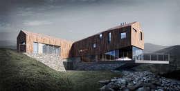 LEDGE HOUSE: styl nowoczesne, w kategorii Domy zaprojektowany przez Zalewski Architecture Group