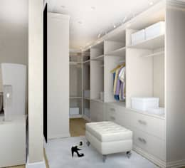 Гардеробная 2 этаж при спальне: Гардеробные в . Автор – Универсальная история