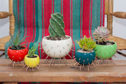 MACETA - MODELO CACTUS: Jardines de estilo moderno por CURADORAS