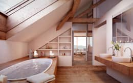 von Mann Architektur GmbH: rustik tarz tarz Banyo