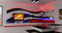 Mozza dİzayn – Kaş : modern tarz Oturma Odası
