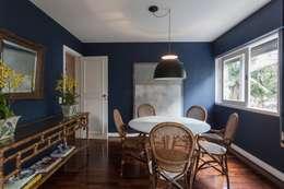Sala integrada: Salas de jantar ecléticas por Pereira Reade Interiores