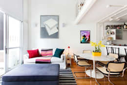 غرفة المعيشة تنفيذ Pereira Reade Interiores