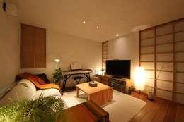 modern Living room by 新井アトリエ一級建築士事務所