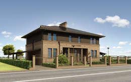 Двухквартирный жилой дом (дуплекс) с приусадебным участком.:  в . Автор – Архитектурное бюро Киев