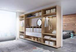 minimalistic Dressing room by DA-Design