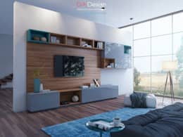 TV zone: Гостиная в . Автор – DA-Design