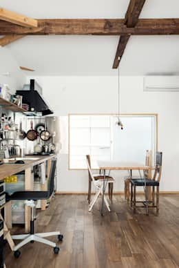 eclectic Dining room by coil松村一輝建設計事務所