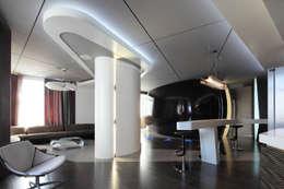 квартира на Масловке: Гостиная в . Автор – Disobject architects