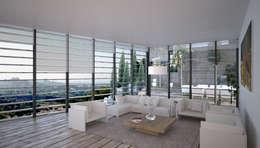 Salas de estar minimalistas por Chdarquitectura