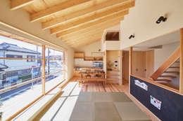 タタミリビング: 一級建築士事務所co-designstudioが手掛けたリビングです。