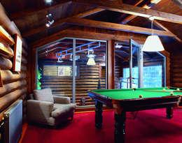 Баня в подмосковье: Гостиная в . Автор – ARP Studio