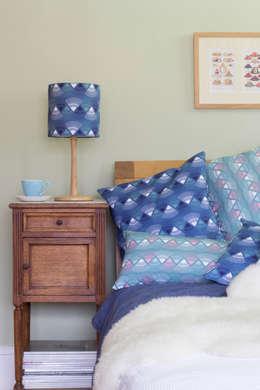 Rakish lampshade and cushions: modern Living room by Rosa & Clara Designs