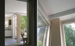 JAREN 50-HUIS | OM DE HOEK: moderne Woonkamer door WEBERontwerpt | architectenbureau