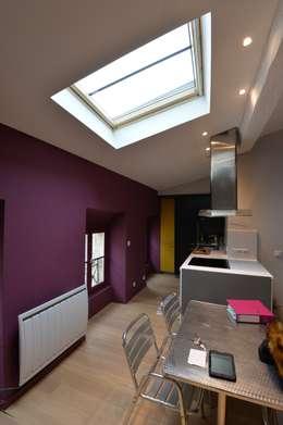 moderne Küche von YF Aaidg (atelier D'architecture Interieur Et De Design Global