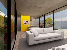 Sala de Estar/Jantar: Salas de estar modernas por Ateliê São Paulo Arquitetura