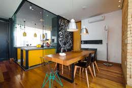 Loft 448: Salas de jantar modernas por Bruno Rubiano