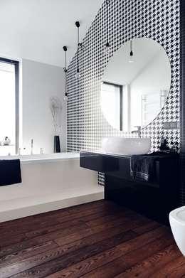 Apartament w Gdańsku 2012: styl , w kategorii Łazienka zaprojektowany przez formativ. indywidualne projekty wnętrz