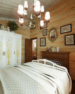 Дизайн частного дома в поселке закрытого типа. Anarchi&И.Мальцев: Спальни в . Автор – AnARCHI