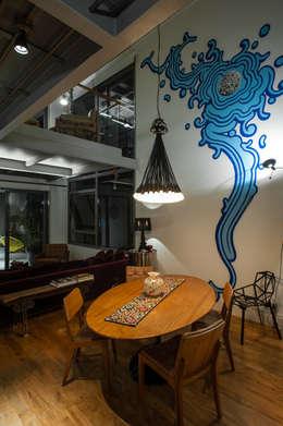 Comedores de estilo industrial por PM Arquitetura