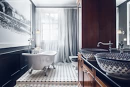 eclectic Bathroom by Sikora Wnetrza