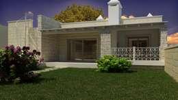 AC House - Vista Esterna: Case in stile in stile Mediterraneo di De Vivo Home Design