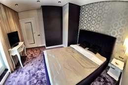 APARTAMENT FUSION: styl , w kategorii Sypialnia zaprojektowany przez Sikora Wnetrza