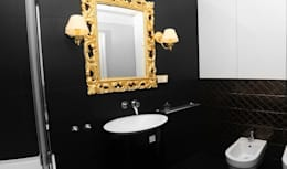 APARTAMENT FUSION: styl , w kategorii Łazienka zaprojektowany przez Sikora Wnetrza