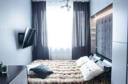 MIESZKANIE W SZAROSCIACH: styl , w kategorii Sypialnia zaprojektowany przez I Home Studio Barbara Godawska