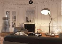 APARTAMENT FRANCUSKI: styl , w kategorii Salon zaprojektowany przez Sikora Wnetrza