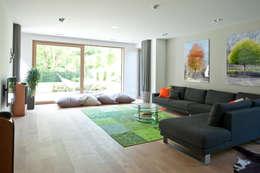 Mit Eyecatchern Das Wohnzimmer Grün Betonen