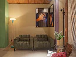 CASA COR - LOFT MULHER MODERNA: Salas de estar modernas por Isabela Bethônico Arquitetura