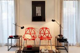 Apartamento Expo_Design Interiores: Salas de estar modernas por Tiago Patricio Rodrigues, Arquitectura e Interiores