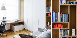 gabinet : styl , w kategorii Domowe biuro i gabinet zaprojektowany przez Anna Maria Sokołowska Architektura Wnętrz