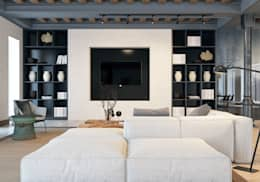 Eco House: Гостиная в . Автор – Pfayfer Fradina Design