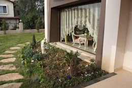 AYAYAPITASARIM – VİLLA: modern tarz Bahçe