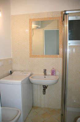 Mobili per nascondere lavatrice in bagno design casa - Arredare bagno piccolo con lavatrice ...