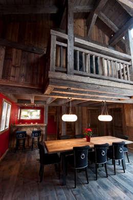Chalet de Claude: salle à manger: Salle à manger de style de stile Rural par shep&kyles design
