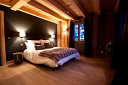 Chalet de Claude: chambre 1: Chambre de style de stile Rural par shep&kyles design
