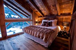 shep&kyles design: kırsal tarz tarz Yatak Odası