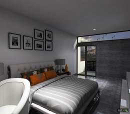 CASA RB: Recámaras de estilo moderno por hausing arquitectura