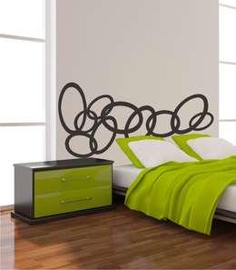 Dormitorios de estilo moderno por Visualvinilo