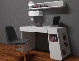Рабочий кабинет  в . Автор – İki İç Mimar