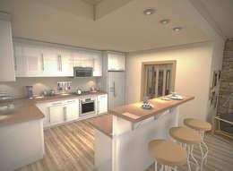 Barras de cocina peque a 6 ideas espectaculares for Altura meson cocina