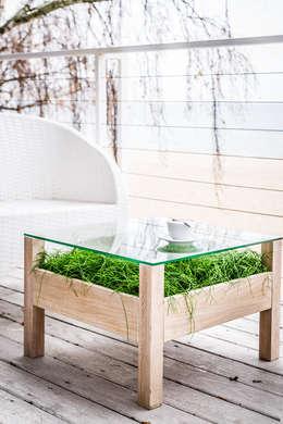 minimalistischer Balkon, Veranda & Terrasse von APPO projekt