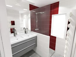 Vue 3D projet de salle de bains:  de style  par Pauline VIDAL - Architecte d'Intérieur CFAI