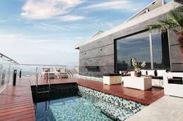 Piscinas de estilo  por Diez y Nueve Grados Arquitectos
