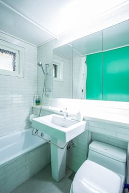 The Diagonal Line _평창동 빌라: 지오아키텍처의  화장실