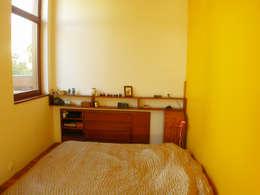 coin chambre - repos: Chambre de style de style Moderne par dominique tessier et associés