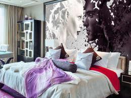 Paredes y pisos de estilo moderno por Bilderwelten